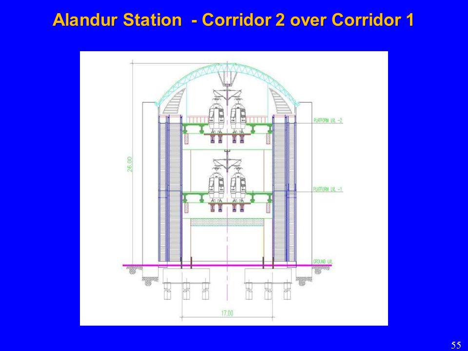 Alandur Station - Corridor 2 over Corridor 1 55