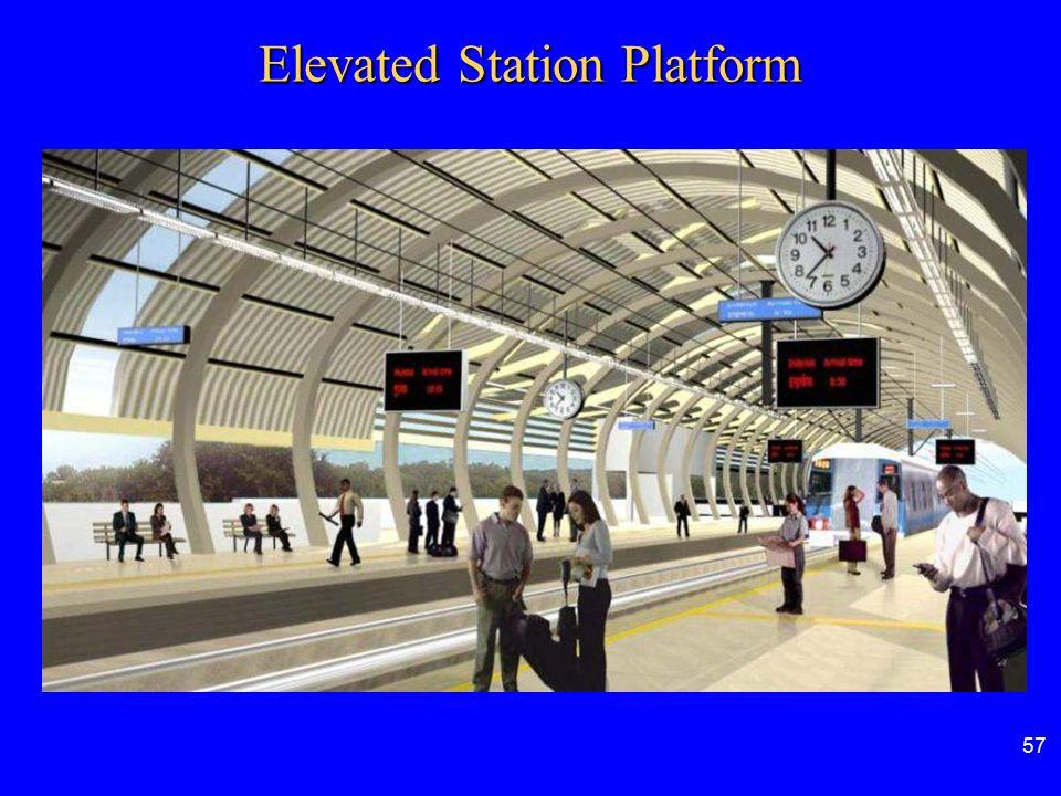 57 Elevated Station Platform