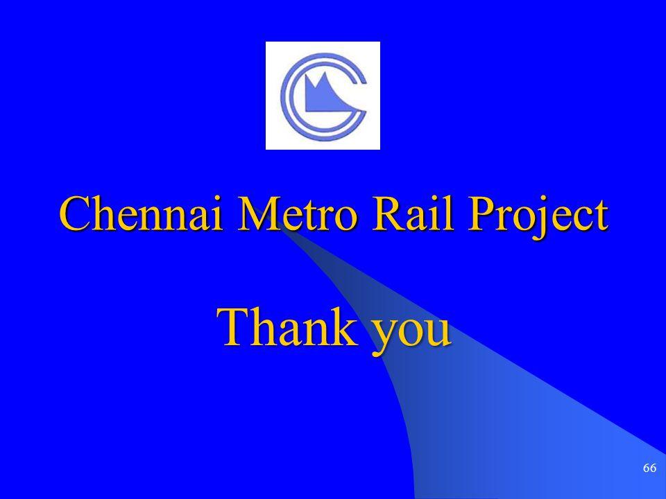 66 Chennai Metro Rail Project Thank you