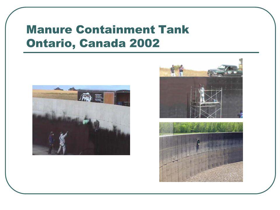 Manure Containment Tank Ontario, Canada 2002