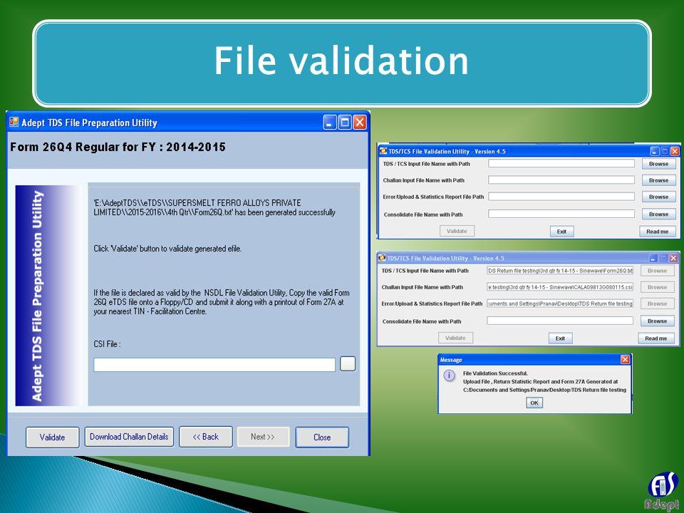 File validation