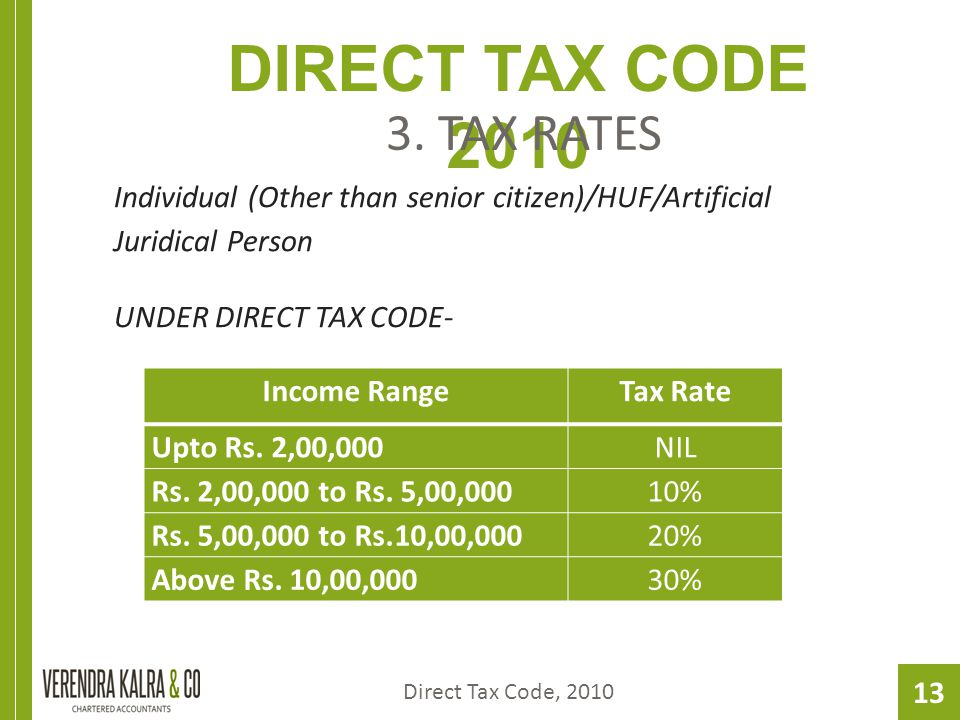 13 DIRECT TAX CODE 2010 3.