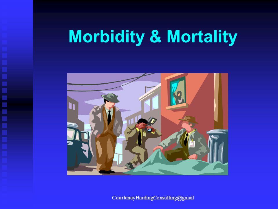 Morbidity & Mortality CourtenayHardingConsulting@gmail