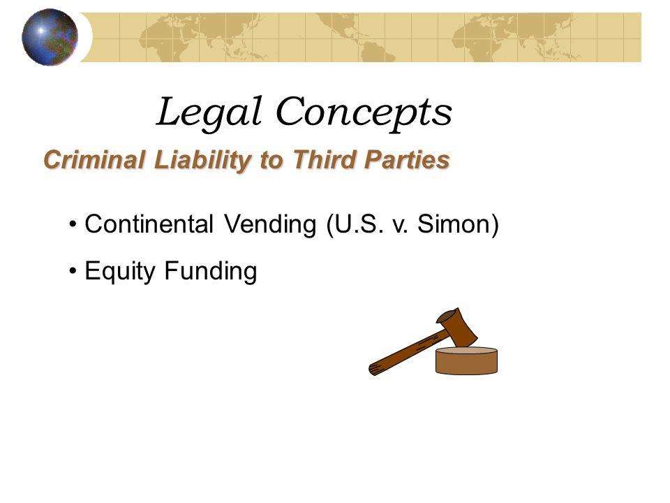 Legal Concepts Criminal Liability to Third Parties Continental Vending (U.S.