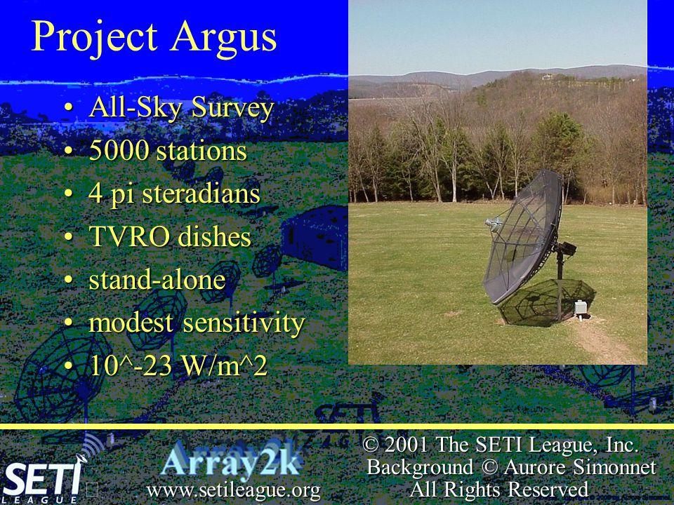  © 2001 The SETI League, Inc.