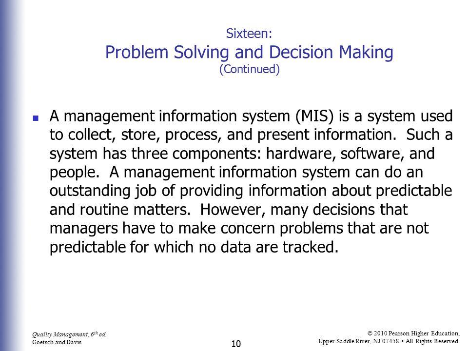 10 Quality Management, 6 th ed.