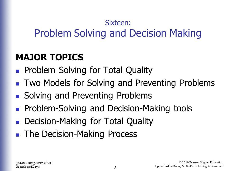 3 Quality Management, 6 th ed.
