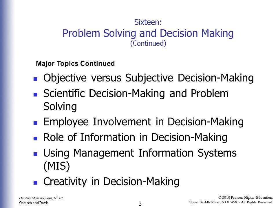 4 Quality Management, 6 th ed.