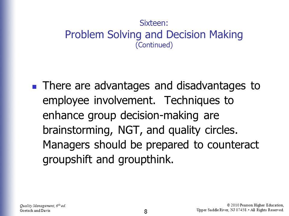 9 Quality Management, 6 th ed.