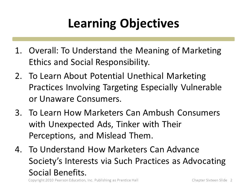 Green Marketing 33 Better Mileage Social Conscience Responsibility and Luxury Copyright 2010 Pearson Education, Inc.