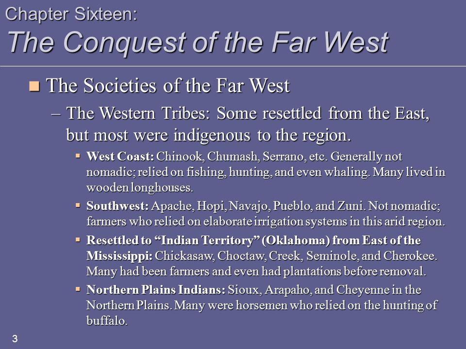 Chapter Sixteen: The Conquest of the Far West The Rise and Decline of the Western Farmer The Rise and Decline of the Western Farmer –Commercial Agriculture  Overproduction: Between 1865 and 1900, farm output increased prices dramatically, lowering prices for agricultural goods.