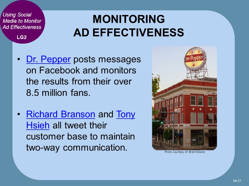 Using Social Media to Monitor Ad Effectiveness Dr.