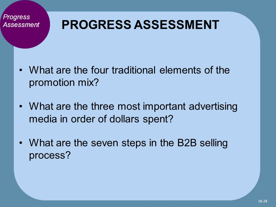 Progress Assessment What are the four traditional elements of the promotion mix.