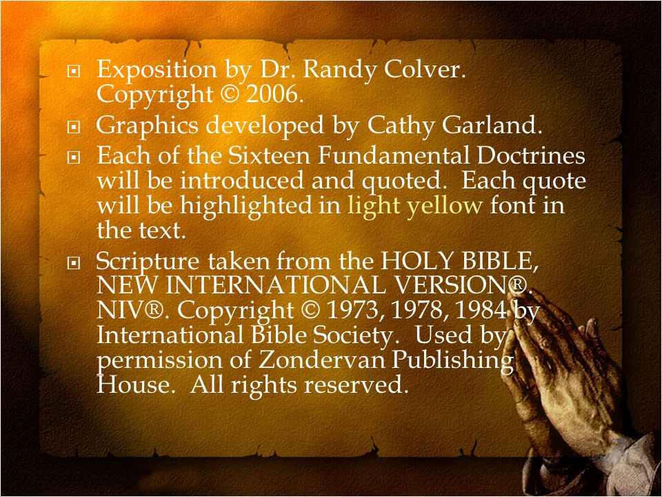  The AG Statement of Fundamental Truths states:  Sanctification is an act of separation from that which is evil, and of dedication unto God (Romans 12:1, 2; 1 Thessalonians 5:23; Hebrews 13:12).