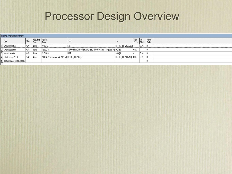 Processor Design Overview