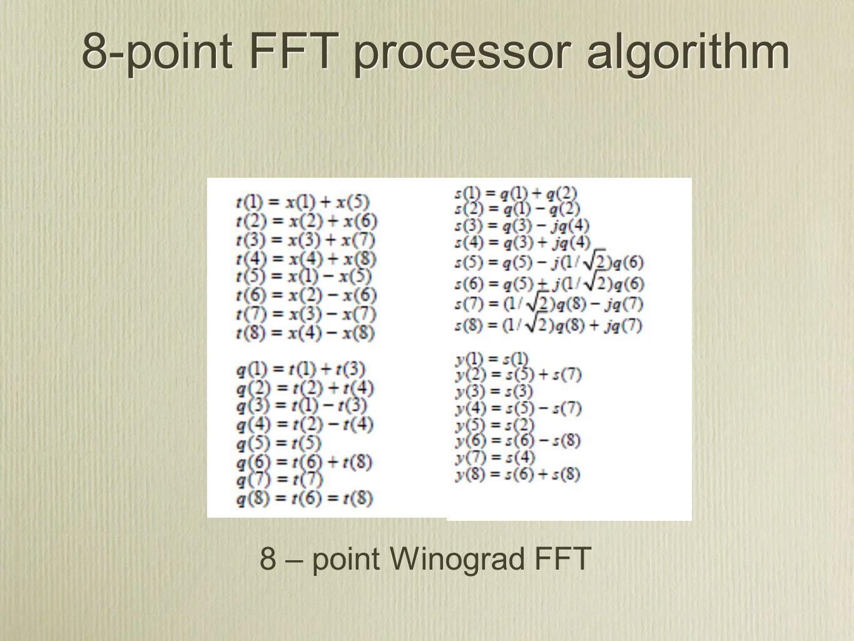 8-point FFT processor algorithm 8 – point Winograd FFT