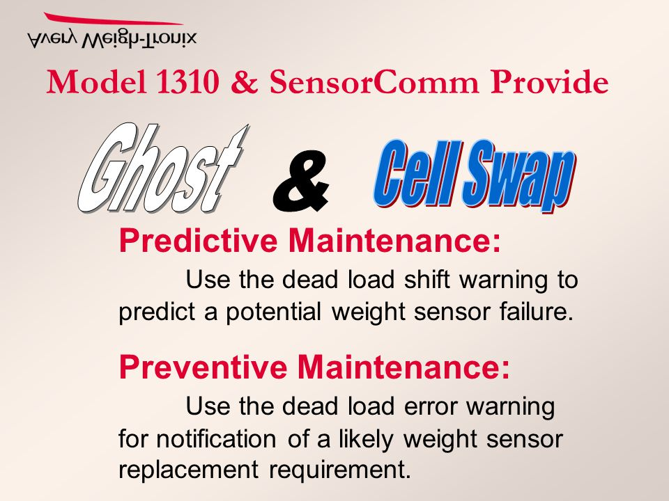 Predictive Maintenance: Use the dead load shift warning to predict a potential weight sensor failure.