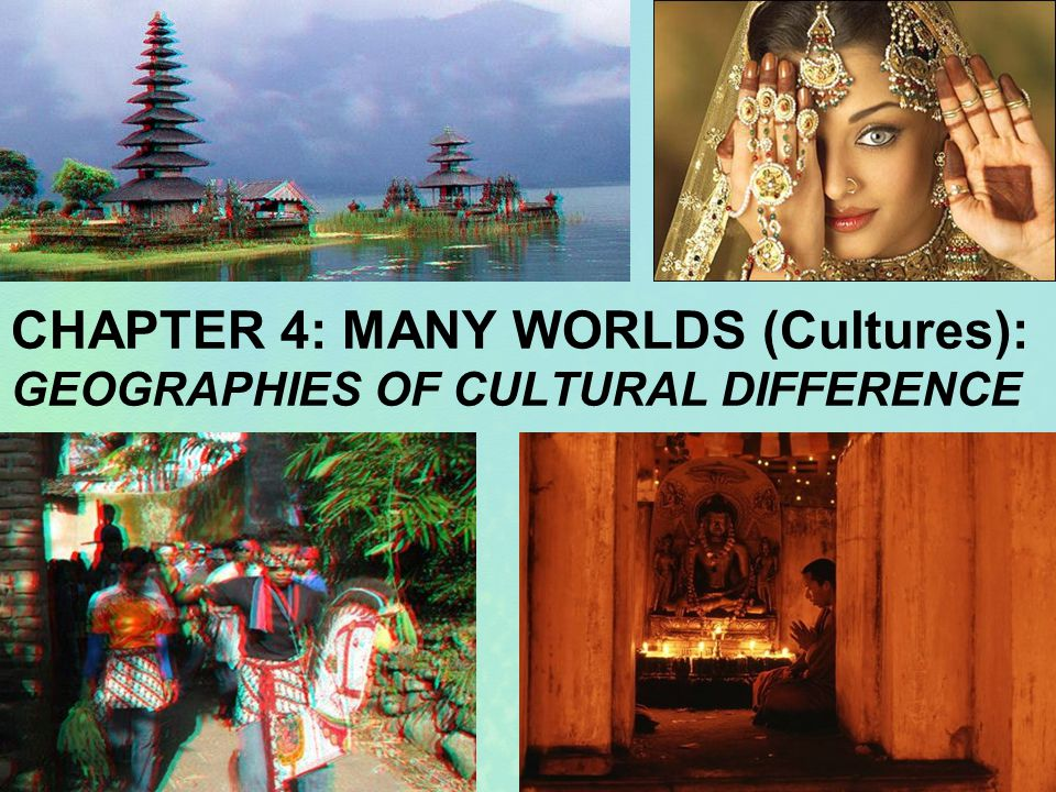 Introduction How geographic differences are influenced by culture –World view affects perceptions and perceptions affect behavior – Foundational assumptions, attitudes, religion & cosmology –Segregation in the United States –Pejorative and racist place-names 2