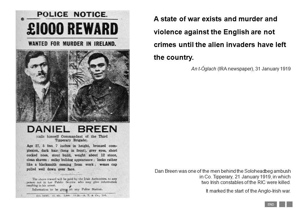 END IRA attack Upper Church Street, Dublin 20 September 1920.