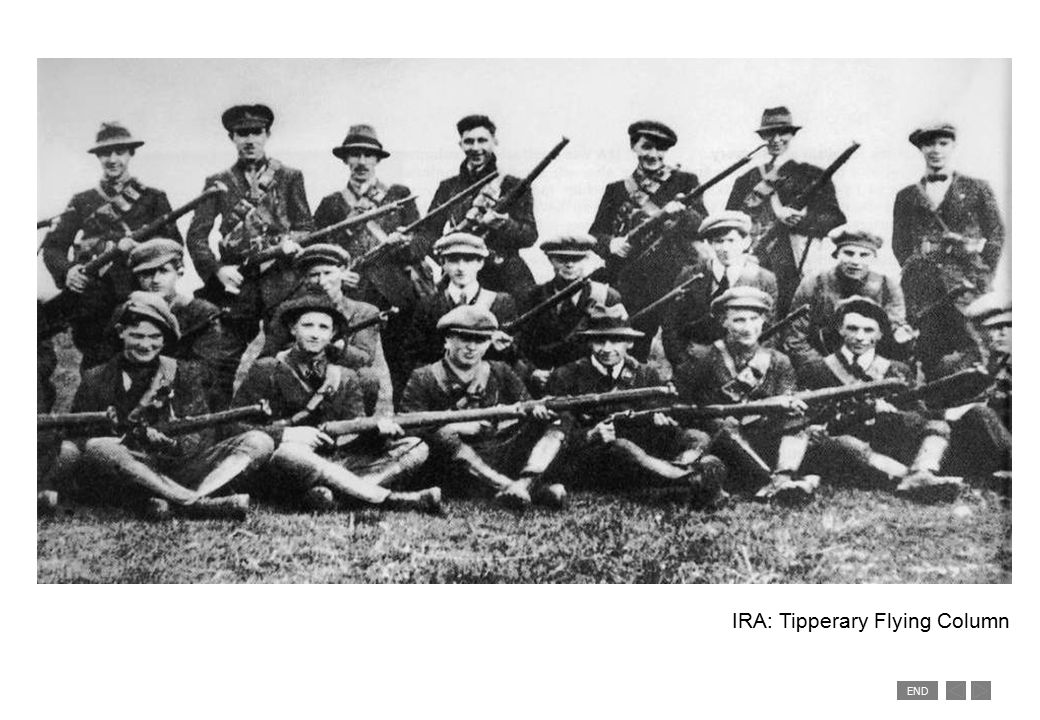 END Soldiers with Black & Tans, posing for a press photograph.