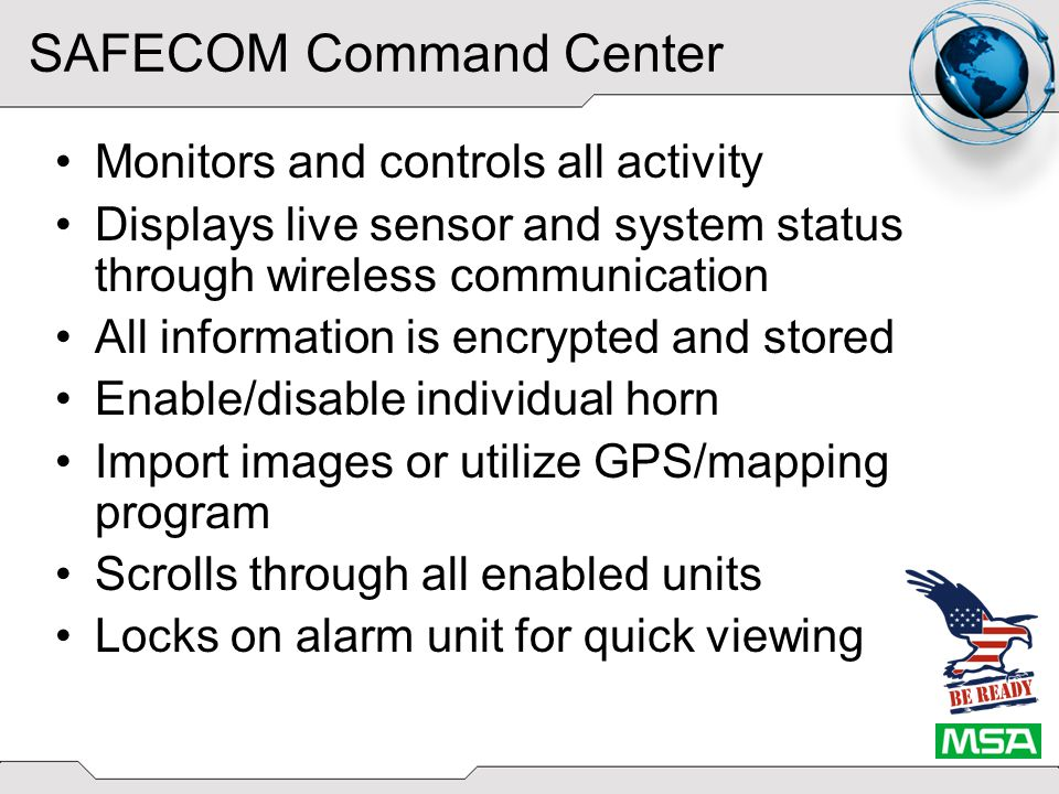 SAFECOM Command Center Importable map images Click and Drag icons
