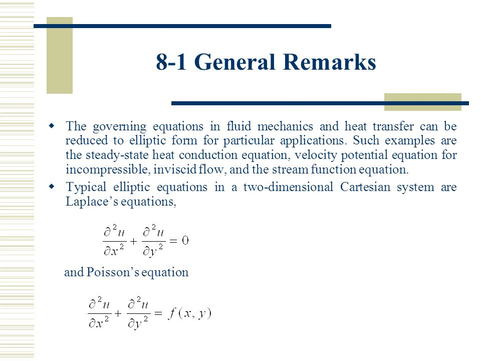 10-2 Fourier or von Neumann analysis (8) For an assessment of numerical stability, we are interested in the variation of with time.