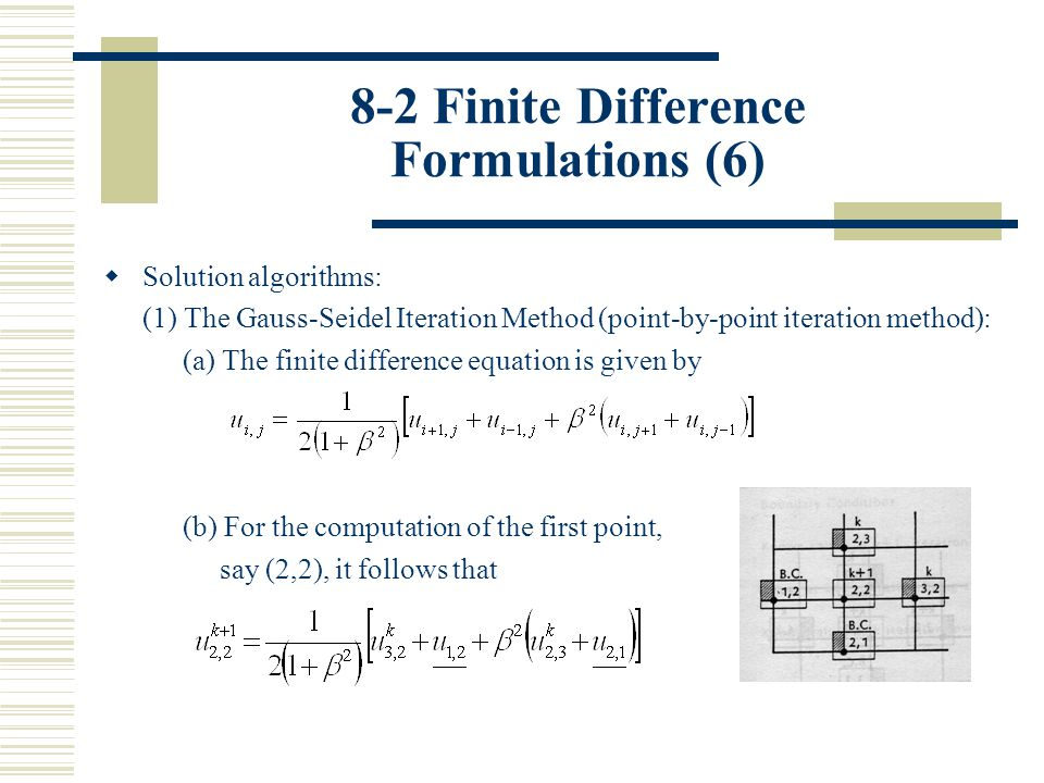 9-2 Finite Difference Formulations (1)  A typical parabolic second-order PDE is the unsteady heat conduction equation, which is considered first in one-space dimension.