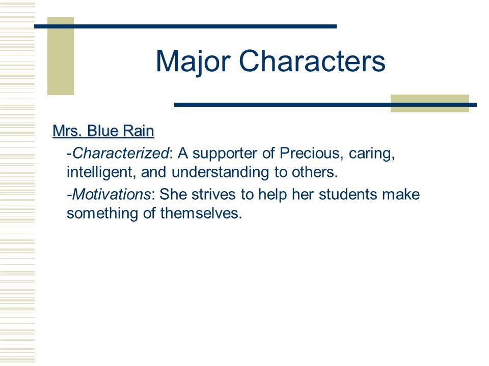 Major Characters Mrs.
