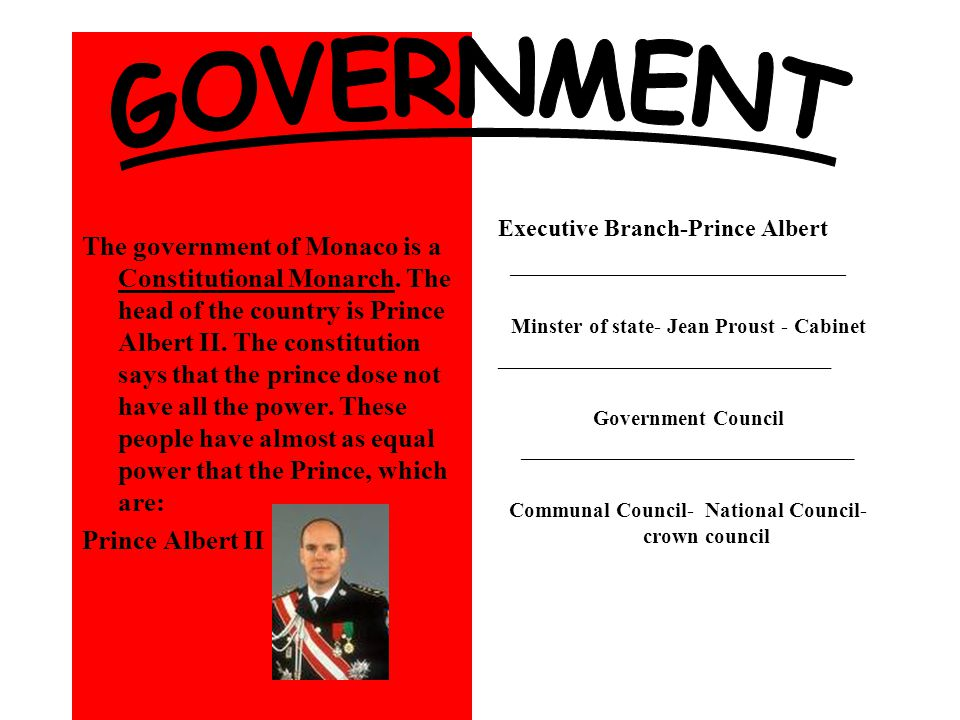 The government of Monaco is a Constitutional Monarch.