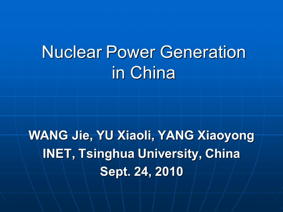 Nuclear reactor technologies in China (Summary) Summary:  PWR was the major reactor type, but not the unique reactor type.