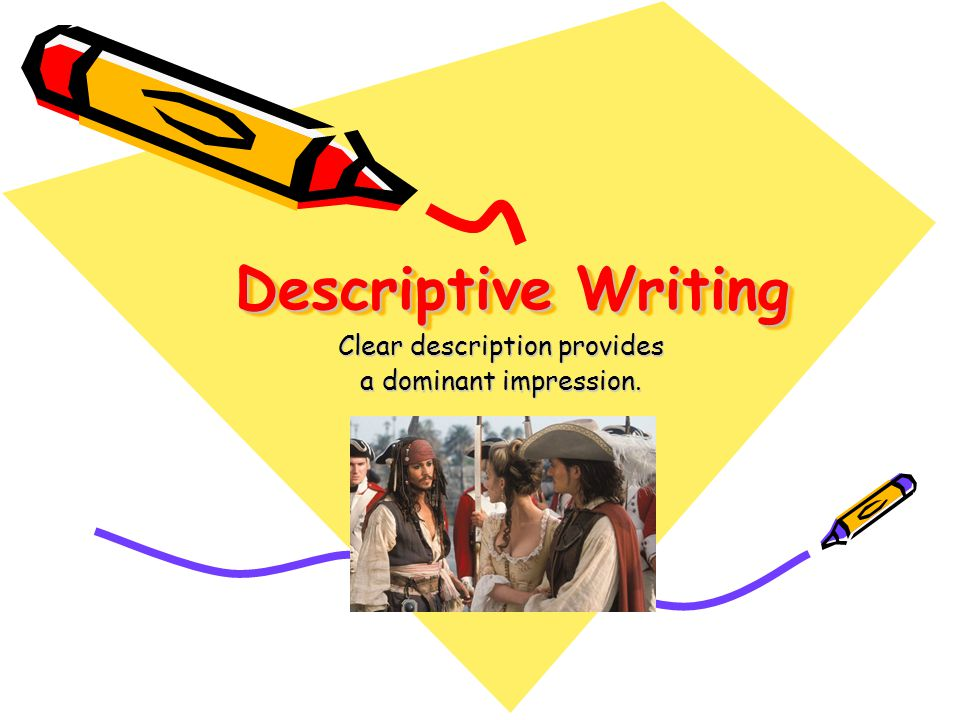 Applying Descriptive Writing Begin by giving your reason for telling all about someone.