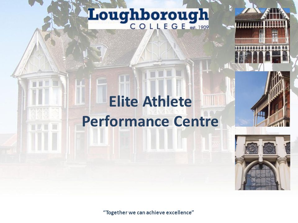 The Elite Performance Centre Office Loughborough College, Radmoor Road, Loughborough, Leicestershire, LE113BT T: 01509215831 F: 01509618109 E: info@loucoll.ac.uk W: www.loucoll.ac.uki Architects Studio 2, Deepdale Enterprise Park Nettleham, Lincoln, LN2 2LL T: 01522 750777 F: 01522 754002 E: info@lk2.co.uk W: www.lk2.co.uk Structural Engineers 4 Henley Way Doddington Road, Lincoln, LN2 2LL T: 01522 696688 F: 01522 686291 E: eng@waldeckassociates.com W: www.waldeck-associates.com Elite Athlete Performance Centre Our thanks go to LK2 Architects LLP and Waldeck Associates for their support in the preparation of this brochure
