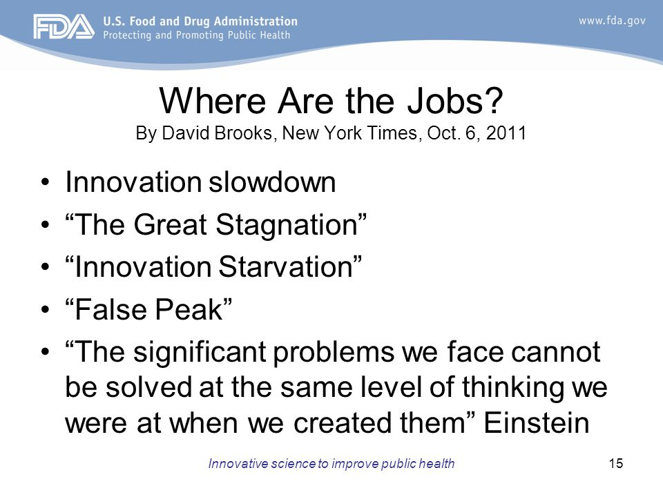 Innovative science to improve public health15 Where Are the Jobs.