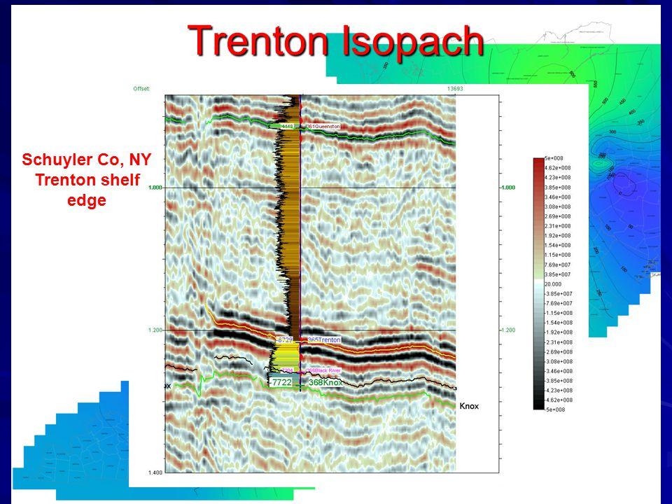 Trenton Isopach Schuyler Co, NY Trenton shelf edge