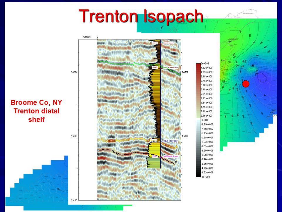 Trenton Isopach Broome Co, NY Trenton distal shelf