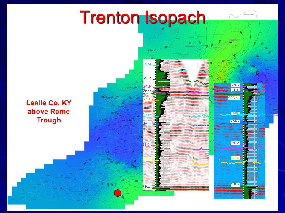 Trenton Isopach Leslie Co, KY above Rome Trough