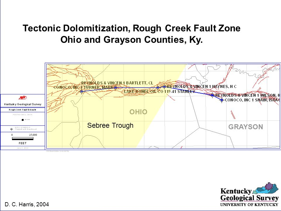 Tectonic Dolomitization, Rough Creek Fault Zone Ohio and Grayson Counties, Ky.