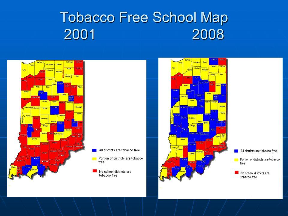 Tobacco Free School Map 2001 2008