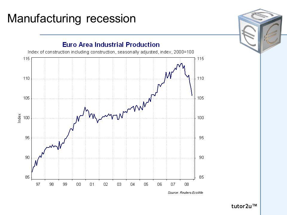tutor2u ™ tutor2u ™ Manufacturing recession