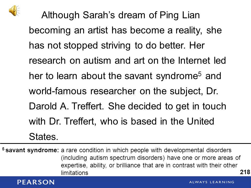 Although Sarah's dream of Ping Lian becoming an artist has become a reality, she has not stopped striving to do better.