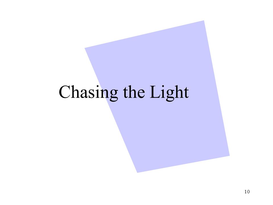 10 Chasing the Light