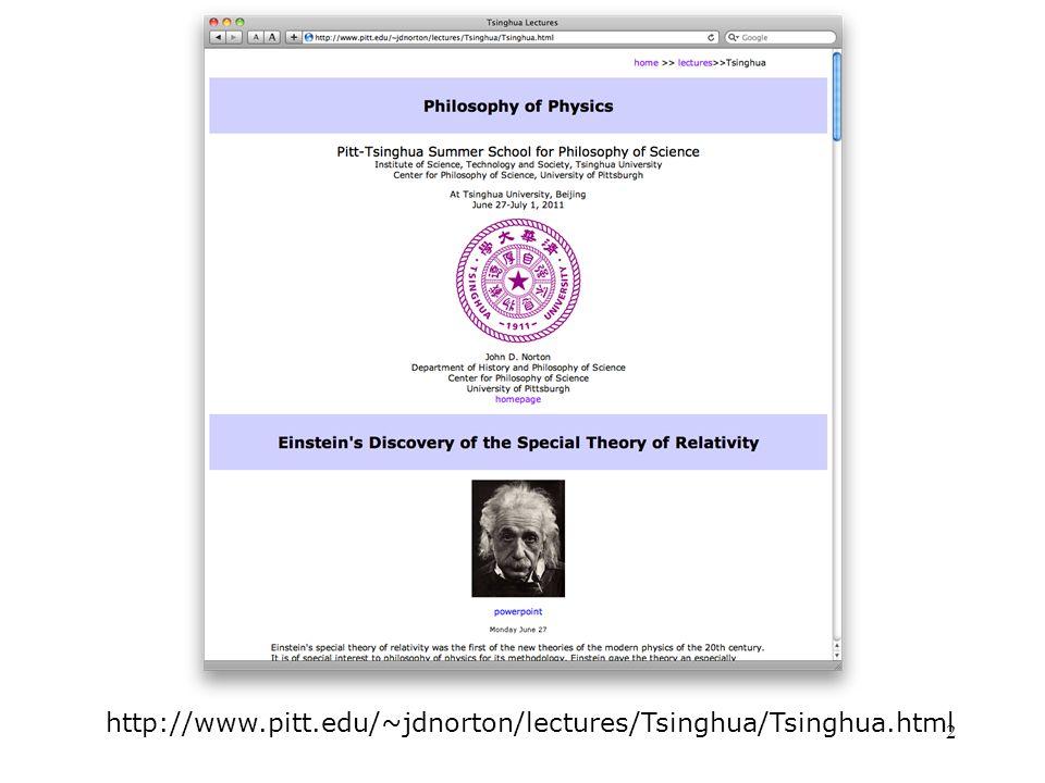 2 http://www.pitt.edu/~jdnorton/lectures/Tsinghua/Tsinghua.html