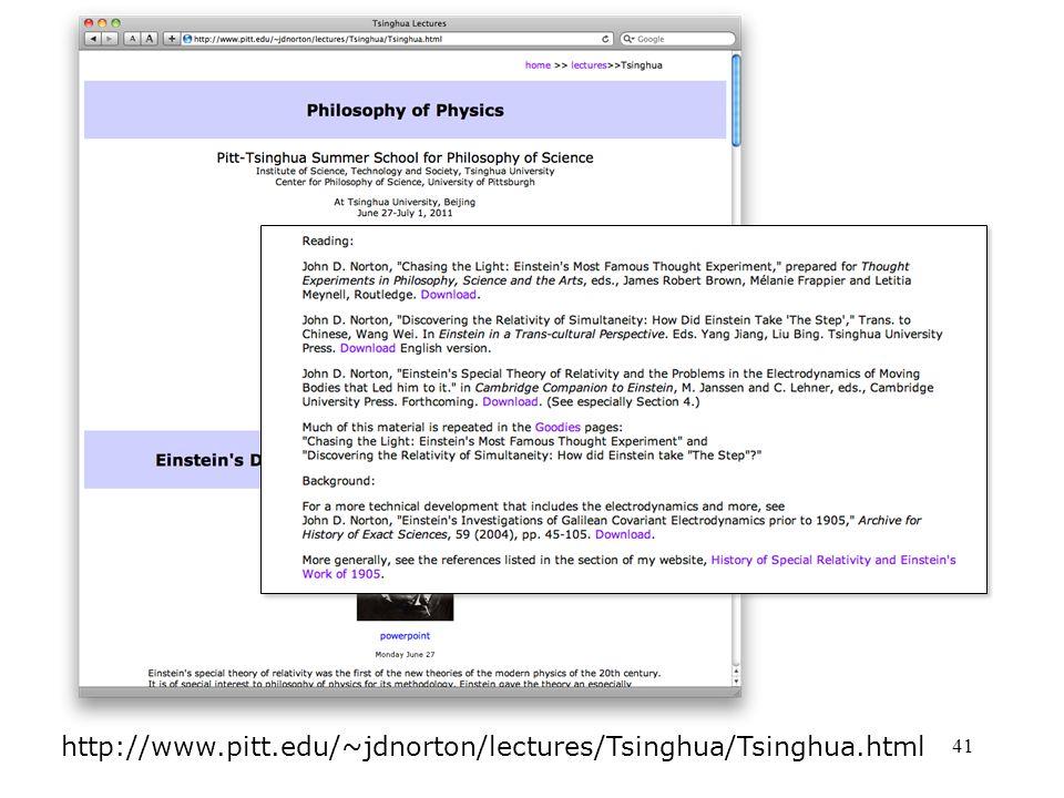 41 http://www.pitt.edu/~jdnorton/lectures/Tsinghua/Tsinghua.html