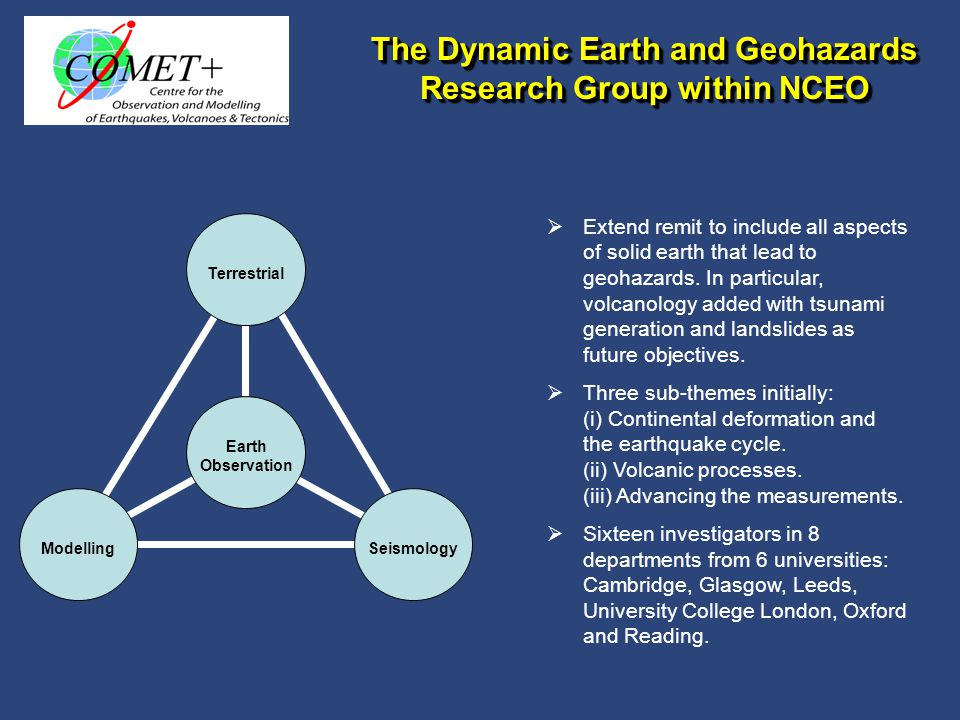Hazardous weather, floods and water resources National Centre for Earth Observation Natural Hazards