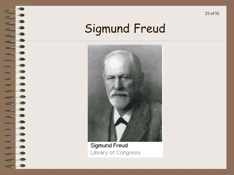 22 of 55 Sigmund Freud, M.D.,a Viennese physician who thought his patients' problems were more emotional than physical.