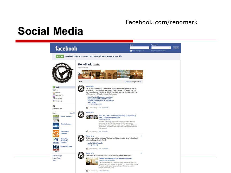 Social Media Facebook.com/renomark