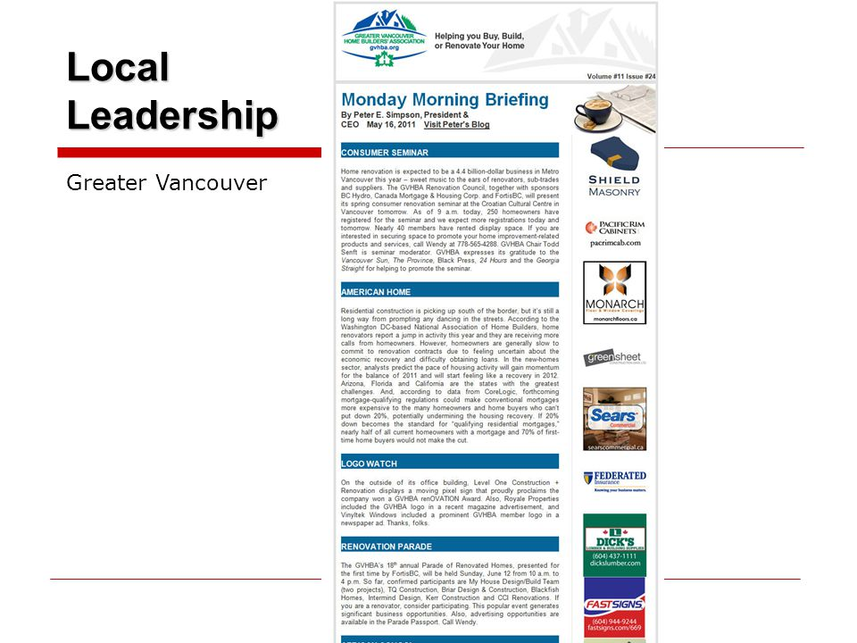 Local Leadership Greater Vancouver