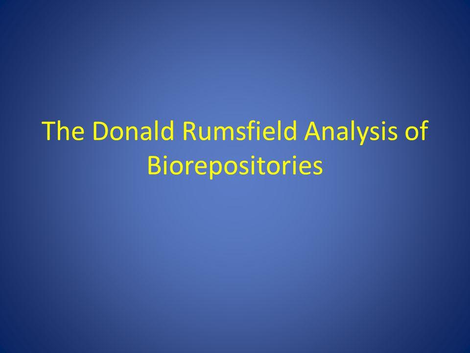 The Donald Rumsfield Analysis of Biorepositories