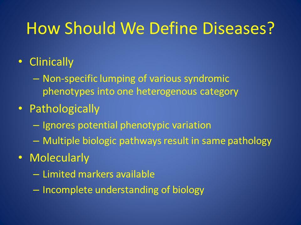 How Should We Define Diseases.