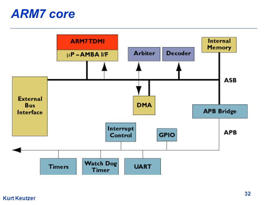 32 Kurt Keutzer ARM7 core